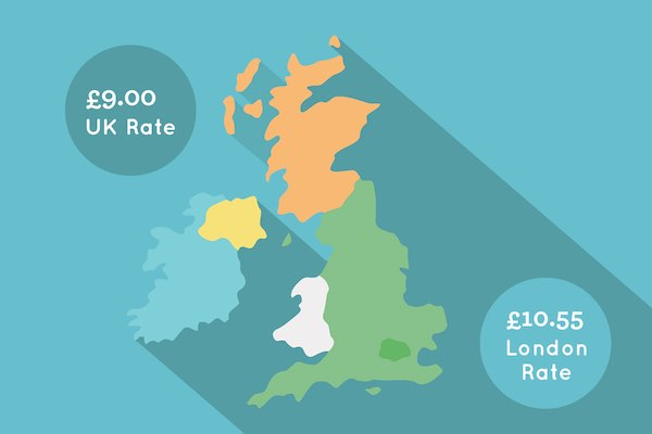 Living wage 2018 Rates Map